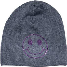 Eisglut Smile Kids Kinder Merino Strickmütze Beanie grau hier im Eisglut-Shop günstig online bestellen