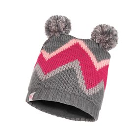 Buff Knitted Polar Hat Arild Child Kinder Mütze grey