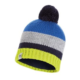 Buff Knitted Polar Hat Knut Child Kinder Bommelmütze cape blue im ARTS-Outdoors Buff-Online-Shop günstig bestellen