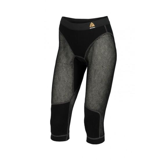 Aclima Woolnet 3/4 Long Pants Damen Merino Unterwäsche jet black hier im Aclima-Shop günstig online bestellen