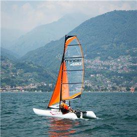 MiniCat 420 Evoque aufblasbarer Katamaran Segelboot