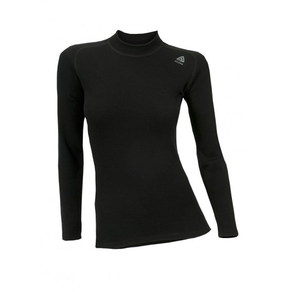 Aclima Warmwool Crew Neck Damen Merino Unterwäsche jet black hier im Aclima-Shop günstig online bestellen