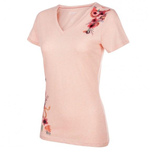 Mammut Zephira T-Shirt Damen Freizeit und Outdoor Kurzarmshirt candy melange PRT1 hier im Mammut-Shop günstig online bestellen