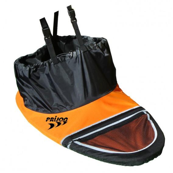 Prijon Nylon Traveller Spritzdecke Spritzschürze schwarz-orange hier im Prijon-Shop günstig online bestellen