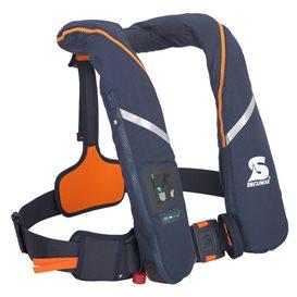 Secumar Survival 275 aufblasbare Rettungsweste dunkelblau-orange hier im Secumar-Shop günstig online bestellen