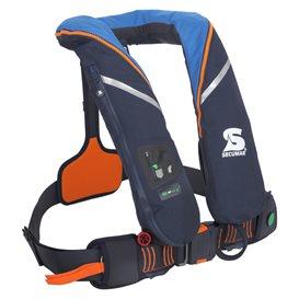 Secumar Survival 220 aufblasbare Rettungsweste hellblau hier im Secumar-Shop günstig online bestellen