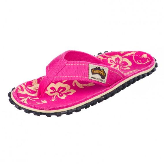 Gumbies Pink Hibiscus Zehentrenner Badelatschen Sandale pink hier im Gumbies-Shop günstig online bestellen