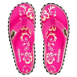 Gumbies Pink Hibiscus Zehentrenner Badelatschen Sandale pink