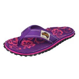 Gumbies Purple Hibiscus Zehentrenner Flip-Flops Sandale lila im ARTS-Outdoors Gumbies-Online-Shop günstig bestellen