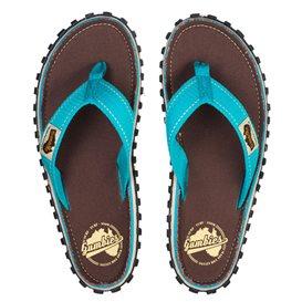 Gumbies Brown Retro Zehentrenner Flip-Flops Sandale türkis