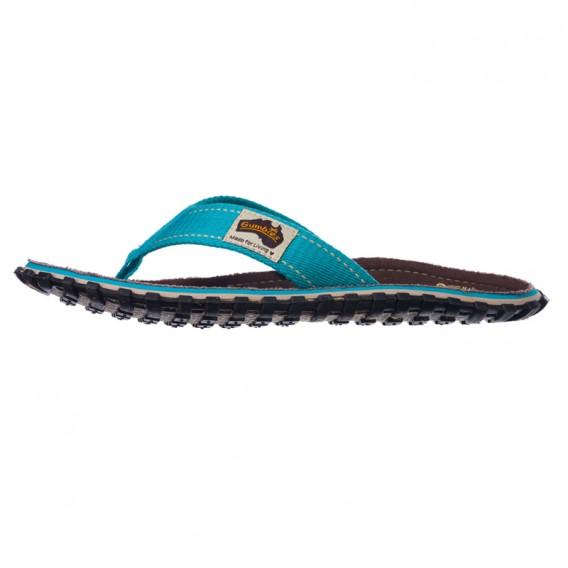 Gumbies Brown Retro Zehentrenner Badelatschen Sandale türkis hier im Gumbies-Shop günstig online bestellen