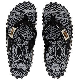 Gumbies Black Nature Zehentrenner Badelatschen Sandale schwarz