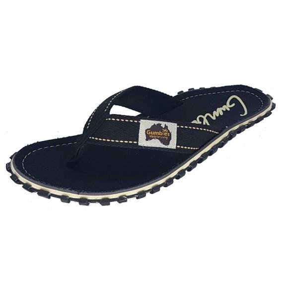 Gumbies Black Zehentrenner Badelatschen Sandale schwarz hier im Gumbies-Shop günstig online bestellen