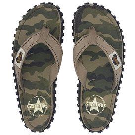 Gumbies Camouflage Zehentrenner Flip-Flops Sandale olive
