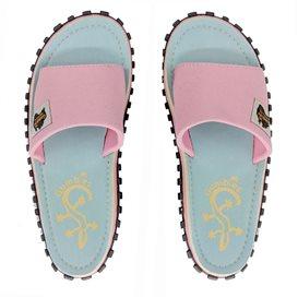 Gumbies Slides Gecko Zehentrenner Flip-Flops Sandale pink