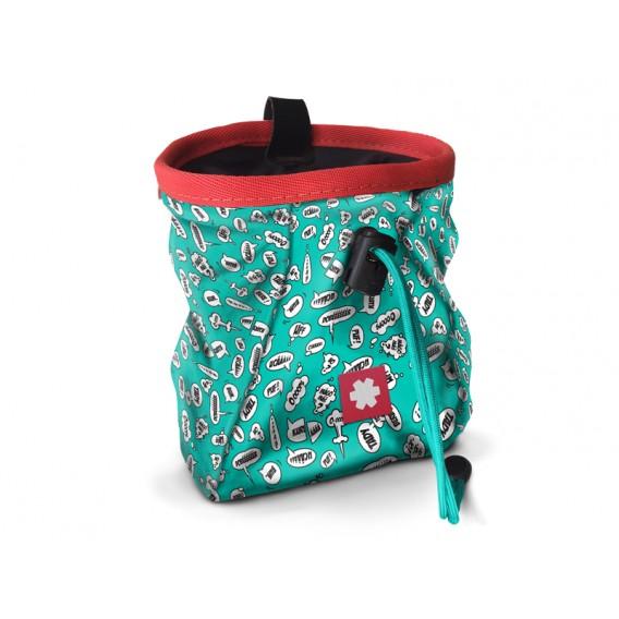 Ocun Lucky + Belt Chalkbag Beutel für Kletterkreide screams turquoise hier im Ocun-Shop günstig online bestellen