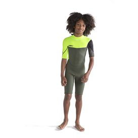 Jobe Boston Shorty 2 mm kurzer Neoprenanzug für Kinder army green