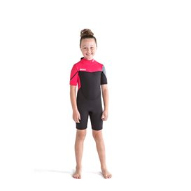 Jobe Boston Shorty 2 mm kurzer Neoprenanzug für Kinder hot pink
