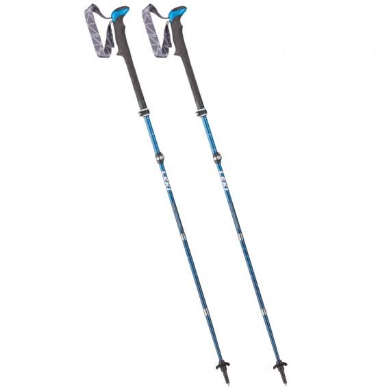 Leki Micro Vario Carbon Trekkingstöcke blau-weiss-blau-neonrot hier im Leki-Shop günstig online bestellen