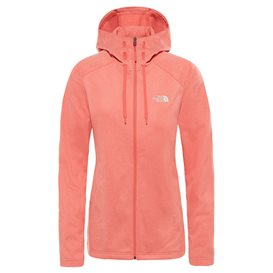 The North Face Tech Mezzaluna Hoodie Damen Jacke coral-white heather