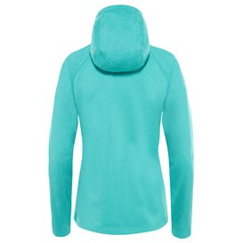 The North Face Mezzaluna Hoodie Damen Fleecejacke ion blue-white heather hier im The North Face-Shop günstig online bestellen