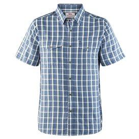 Fjällräven Abisko Cool Shirt Shortsleeve Herren Freizeit und Outdoor Kurzarm Hemd uncle blue im ARTS-Outdoors Fjällräven-Online-