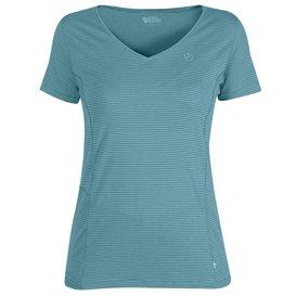 Fjällräven Abisko Cool T-Shirt Damen Freizeit und Outdoor Kurzarm Shirt lagoon