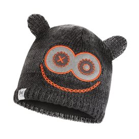 Buff Knitted Polar Hat Monster Jolly Child Kinder Wintermütze black