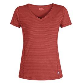 Fjällräven Abisko Cool T-Shirt Damen Freizeit und Outdoor Kurzarm Shirt dahlia