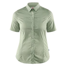 Fjällräven High Coast Stretch Shirt Shortsleeve Damen Outdoor und Freizeit Kurzarm Shirt sage green