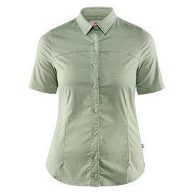 Fjällräven High Coast Stretch Shirt Shortsleeve Damen Outdoor und Freizeit Kurzarm Shirt sage green im ARTS-Outdoors Fjällräven-