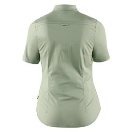 Fjällräven High Coast Stretch Shirt Shortsleeve Damen Outdoor und Freizeit Kurzarm Shirt sage green hier im Fjällräven-Shop güns