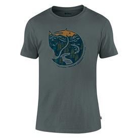Fjällräven Arctic Fox T-Shirt Herren Freizeit und Outdoor Kurzarm Shirt dusk
