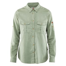 Fjällräven Övik Travel Shirt Longsleeve Damen Outdoor und Freizeit Langarm Shirt sage green