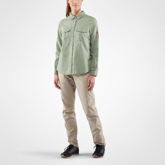 8e4555d659b7ec Fjällräven Övik Travel Shirt Longsleeve Damen Outdoor und Freizeit Langarm  Shirt sage green im ARTS-