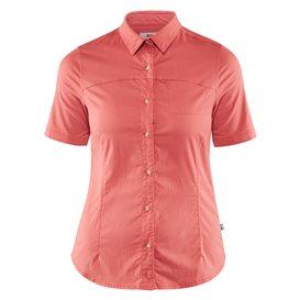 Fjällräven High Coast Stretch Shirt Shortsleeve Damen Outdoor und Freizeit Kurzarm Shirt dahlia