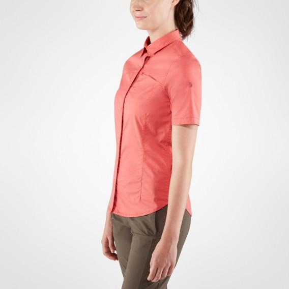 Fjällräven High Coast Stretch Shirt Shortsleeve Damen Outdoor und Freizeit Kurzarm Shirt dahlia hier im Fjällräven-Shop günstig