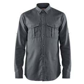 Fjällräven Övik Travel Shirt Longsleeve Herren Freizeit und Outdoor Langarm Hemd dusk