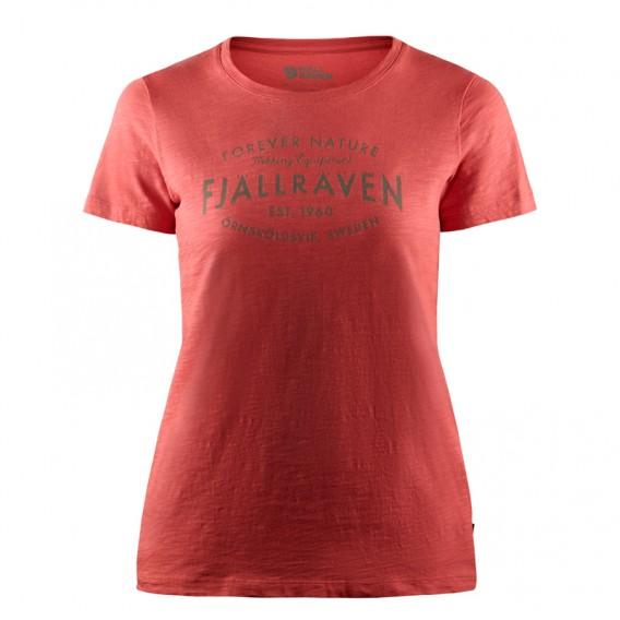 Fjällräven Est. 1960 T-Shirt Damen Freizeit und Outdoor Kurzarm Shirt dahlia hier im Fjällräven-Shop günstig online bestellen
