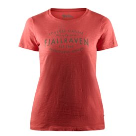 Fjällräven Est. 1960 T-Shirt Damen Freizeit und Outdoor Kurzarm Shirt dahlia im ARTS-Outdoors Fjällräven-Online-Shop günstig bes