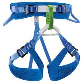 Petzl Macchu verstellbarer Sitzgurt für Kinder Klettergurt blau