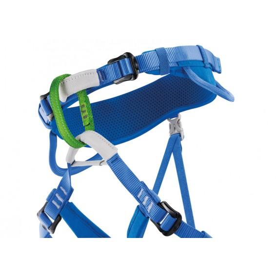 Petzl Macchu verstellbarer Sitzgurt für Kinder Klettergurt blau hier im Petzl-Shop günstig online bestellen