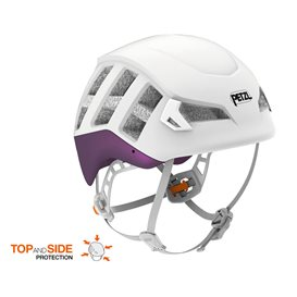 Petzl Meteor Kletterhelm Kopfschutz zum Bergsteigen violett