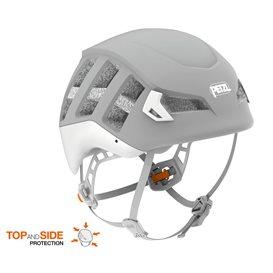 Petzl Meteor Kletterhelm Kopfschutz zum Bergsteigen grau
