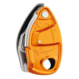 Petzl Grigri+ Sicherungsgerät mit Bremskraftunterstützung orange