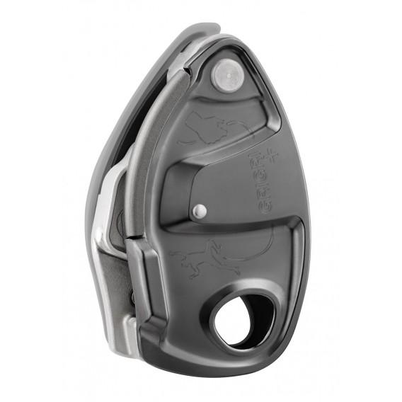 Petzl Grigri+ Sicherungsgerät mit Bremskraftunterstützung grau 8,5 bis 11 mm hier im Petzl-Shop günstig online bestellen