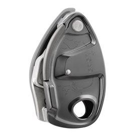 Petzl Grigri+ Sicherungsgerät mit Bremskraftunterstützung grau 8,5 bis 11 mm