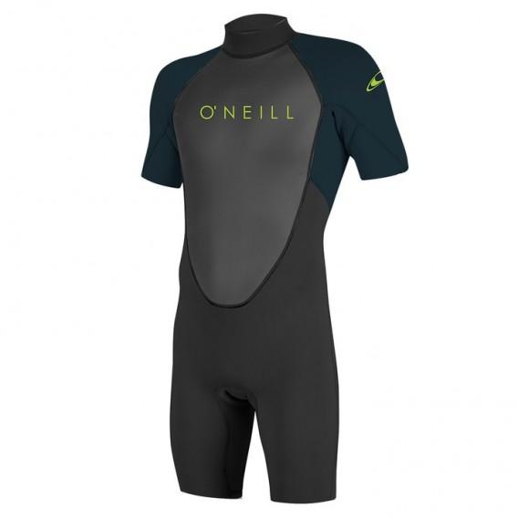 ONeill Youth Reactor II 2 mm Back Zip Shortsleeve Spring Kinder Neoprenanzug schwarz hier im ONeill-Shop günstig online bestelle
