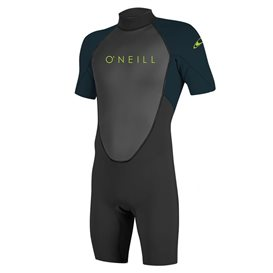 ONeill Youth Reactor II 2 mm Back Zip Shortsleeve Spring Kinder Neoprenanzug schwarz