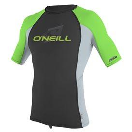 ONeill Youth Premium Skins Shortsleeve Rashguard Kinder grau